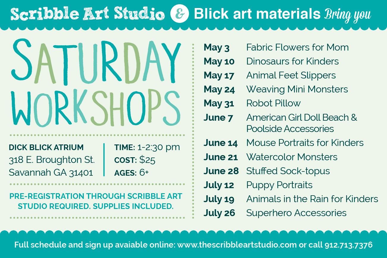 Savannah Saturday Scribble Art Workshops Blick