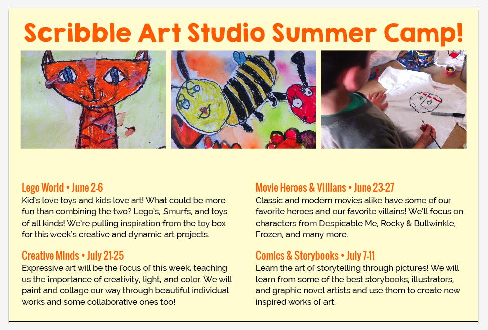 Scribble Art Studio Summer Camps 2014 discount