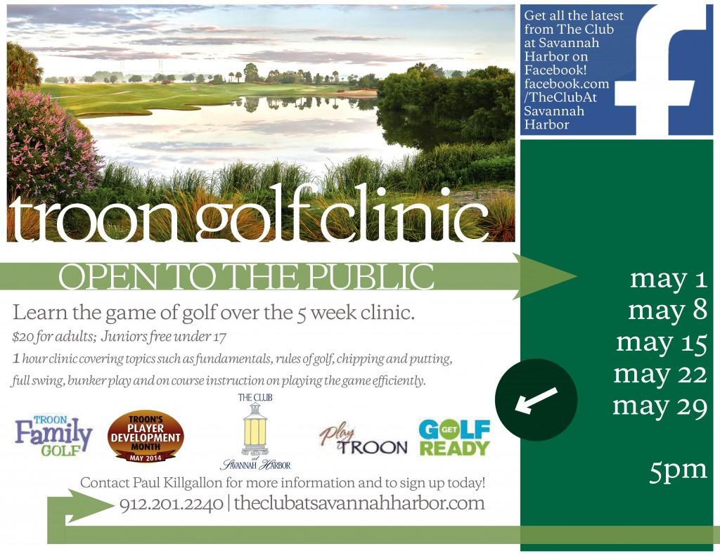 Family golf clinics at Club at Savannah Harbor