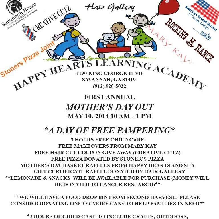 Free childcare Savannah for Mother's Day 2014