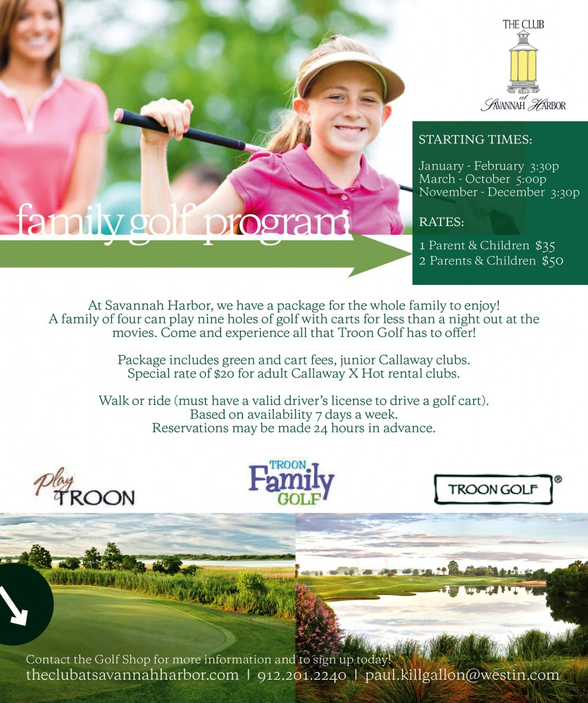 Family Golf Programs Savannah