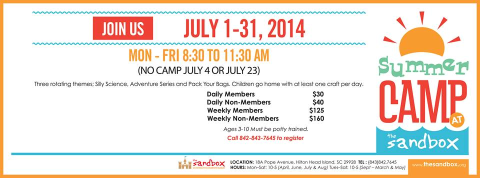Sandbox Museum Summer Camps 2014 Hilton Head Is.