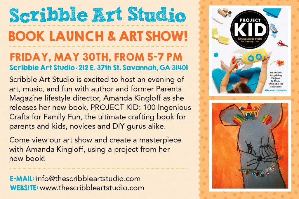 Scribble Project Kid book launch Savannah