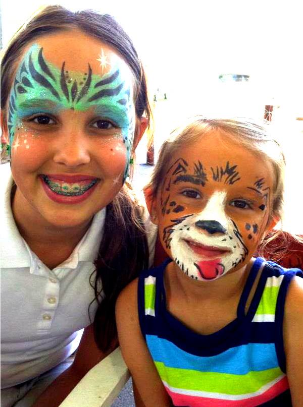Face painting glitter tattoos for children's birthdays Savannah Richmond Hill