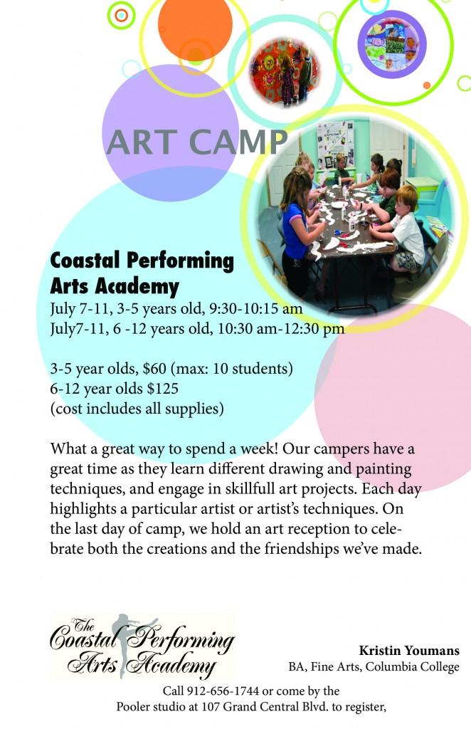 Art Camp at Coastal Performing Arts Academy in Pooler