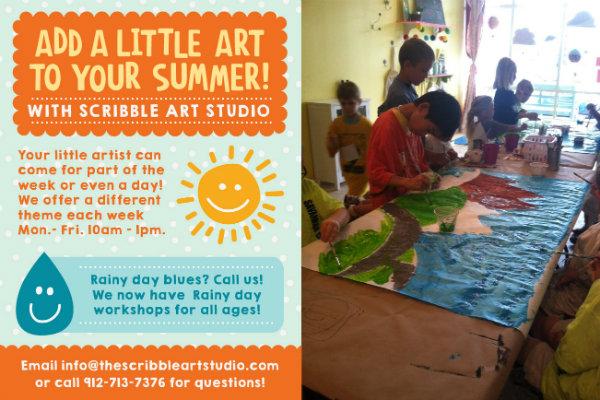 Scribble art classes summer Savannah