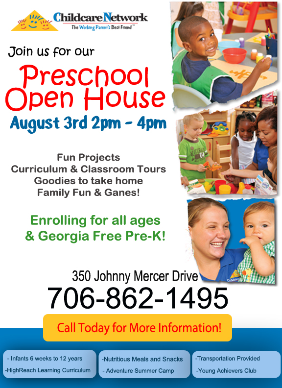 Open House at Childcare Network Wilmington Island Savannah