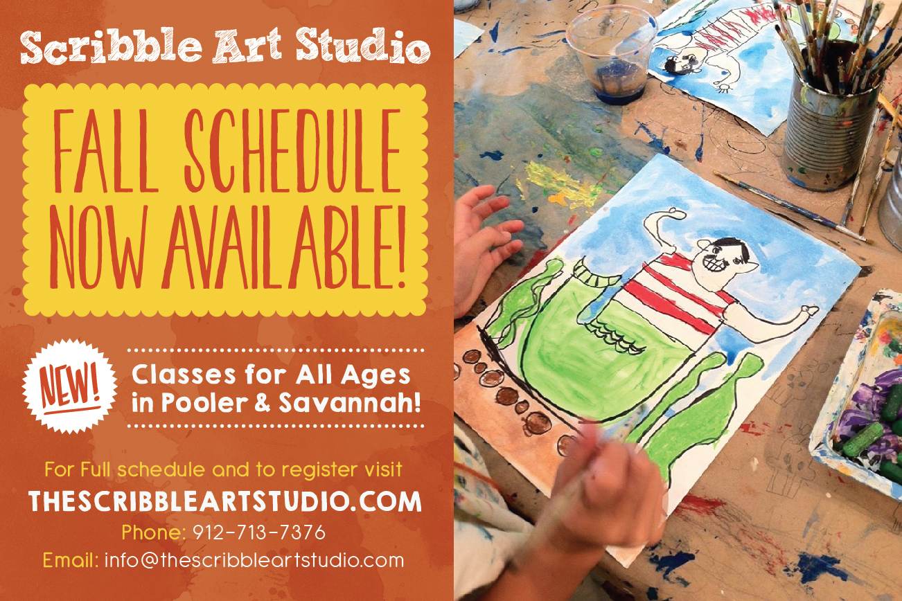 children art classes in Pooler Savannah Scribble Art Studio