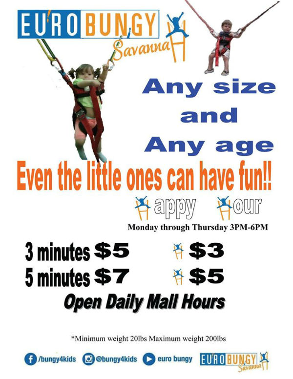 Eurobungy for kids in Savannah Mall Bungy for Kids