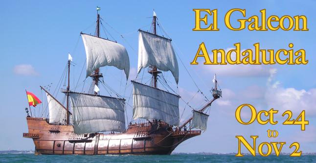 EL GALEON ANDALUCIA Tall Ship in Savannah Oct 24- Nov. 2 2014