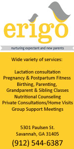 Erigo Savannah nurturing expectant & new parents, Savannah breastfeeding help