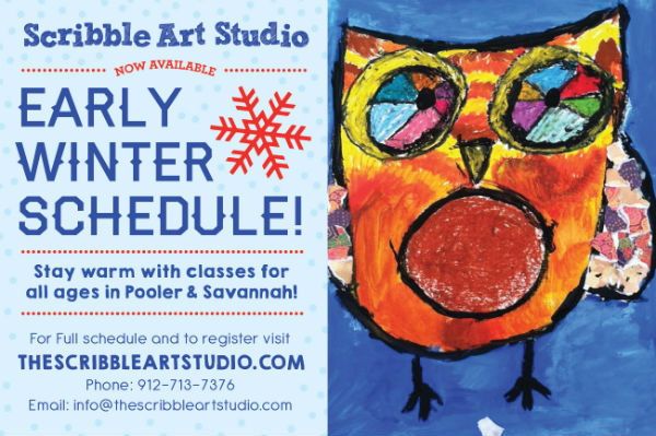 winter children's art classes Savannah