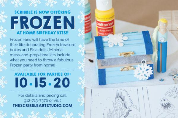 At home Frozen Birthday Parties Kits Savannah