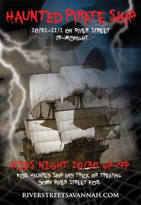 Haunted Pirate Ship Kids' Night Oct. 30 Savannah Halloween