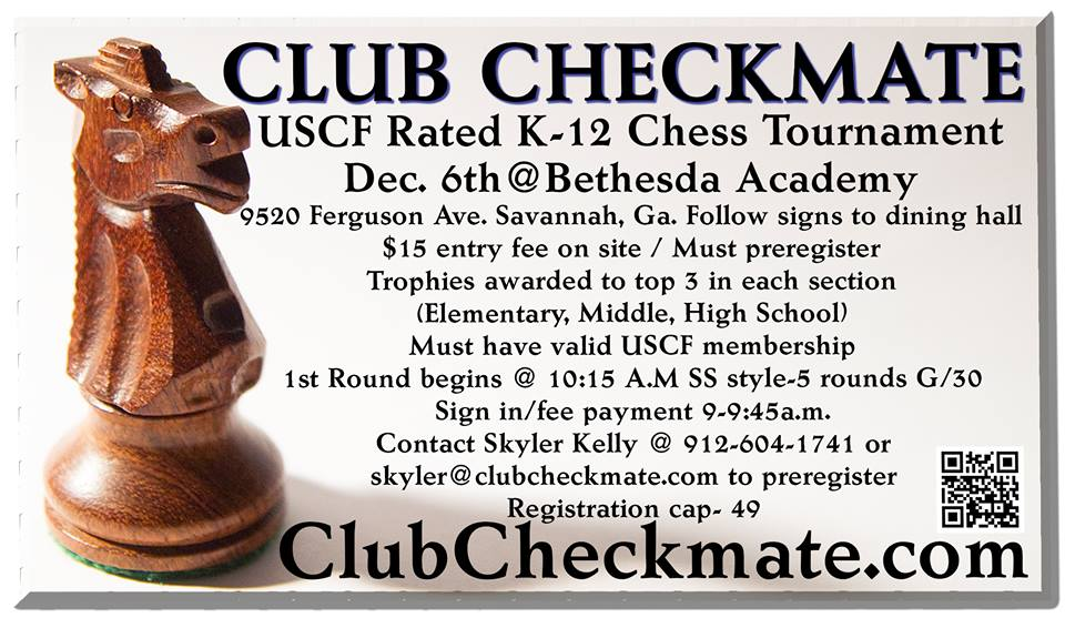 Savannah Chess Club Tournament Dec. 6 2014