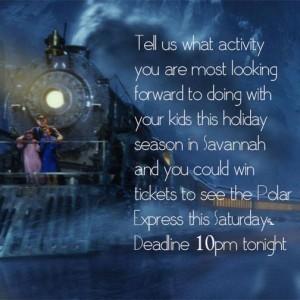 Polar Express movie in Savannah