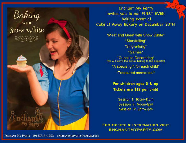 Enchanted Baking with Snow White Savannah Enchant My Party