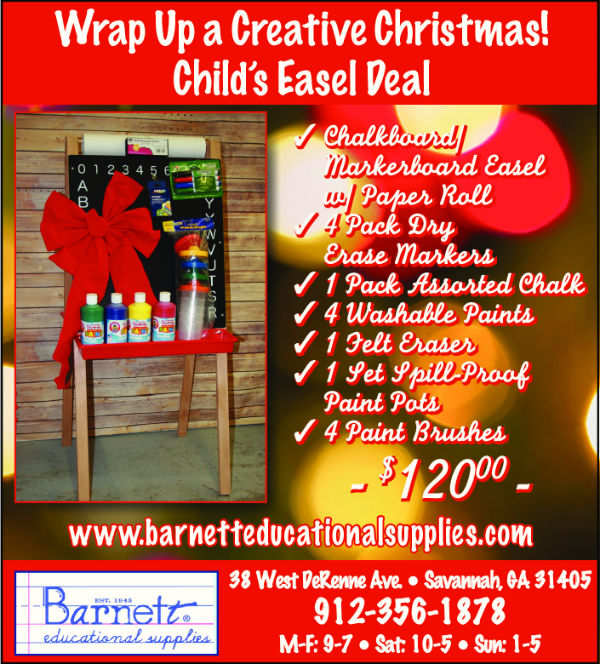 barnett educational supplies holiday deals Savannah 2014