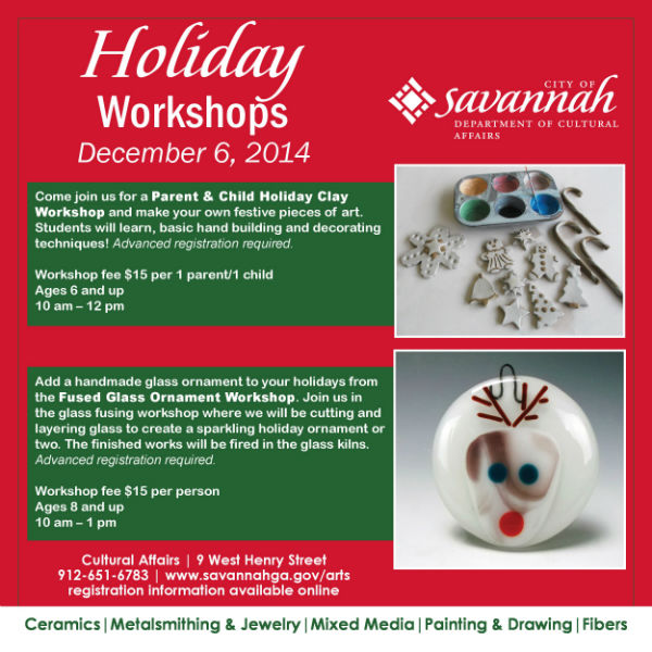 Holiday Art Workshops Savannah