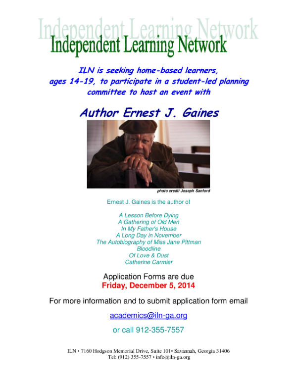 Homeschool teens Savannah needed for book author event