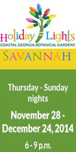 December Nights, Holiday Lights at Coastal Georgia Botanical Gardens 2014 Savannah