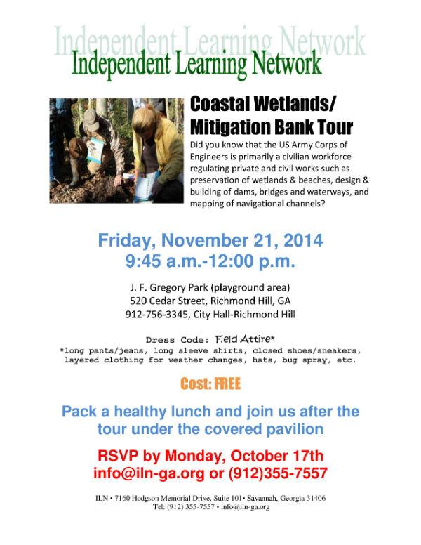 Free Coastal Wetlands field trip for Savannah homeschoolers