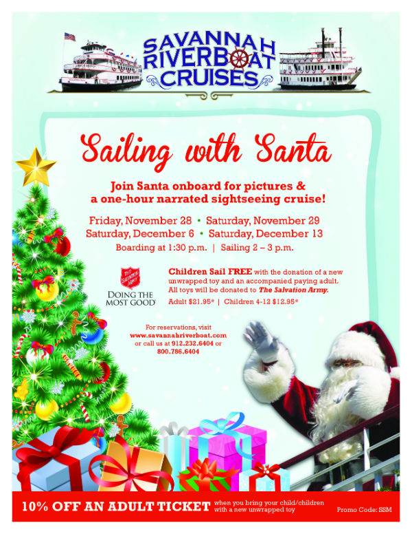 Sailing with Santa Savannah Riverboat Cruises