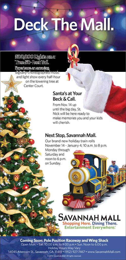 Savannah Holiday Events, Santa photos, Holiday train Savannah Mall