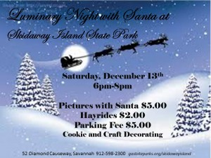 Luminary Night with Santa Skidaway Is. State Park