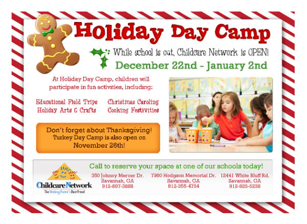 Holiday Winter Camps Savannah Childcare Network