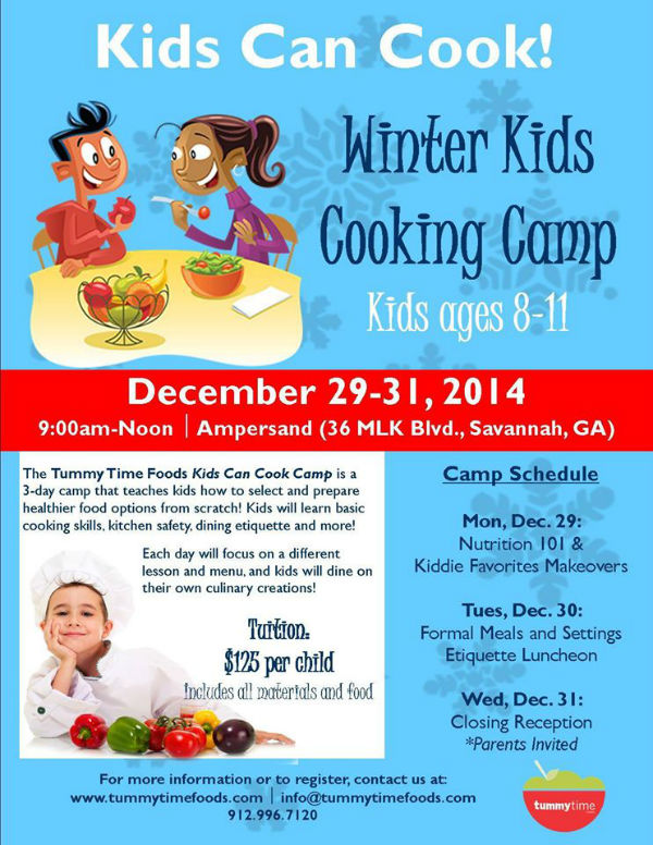 Winter Kids Cooking Camp Savannah
