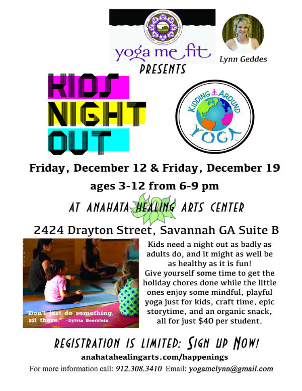 Kids Night Out: Date Night for Parents Savannah Yoga Me Fit 2014