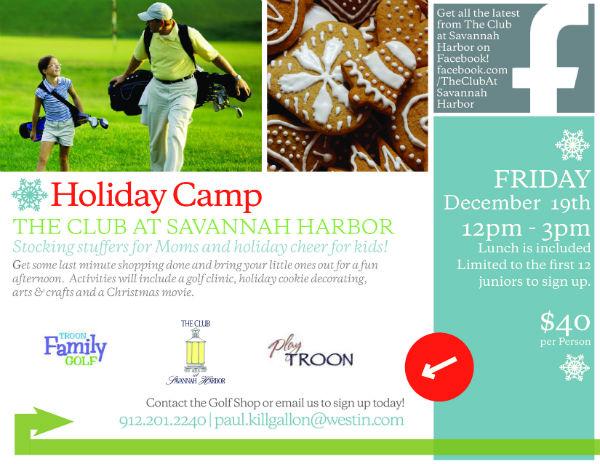 Holiday Camps Savannah Winter Golf Camp Club at Savannah Harbor