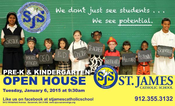 Savannah private school open houses St. James Catholic School