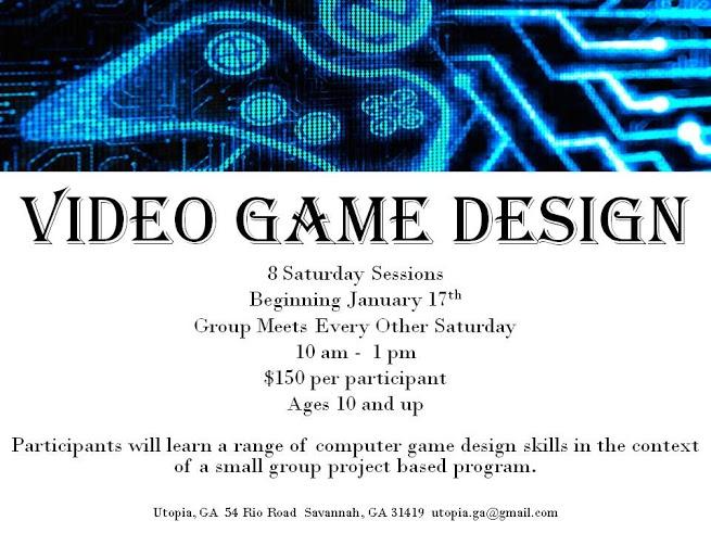 Video Game Design for kids Savannah Utopia Ga