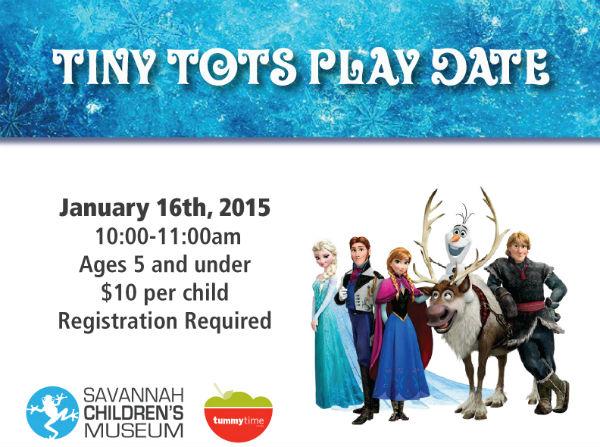 Frozen Playdate Savannah Children's Museum Tummy Time Foods