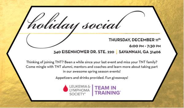 Holiday Social Team in Training Savannah Women's Publix Half Marathon