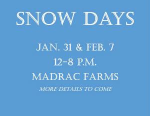 Snow Day Sledding Savannah 2015 Madrac Farms