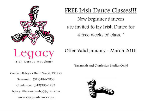 Free Irish Dance Classes Savannah Legacy
