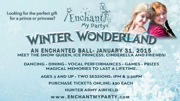 Enchant My Party Winter Wonderland Fall Snow Queen Savannah