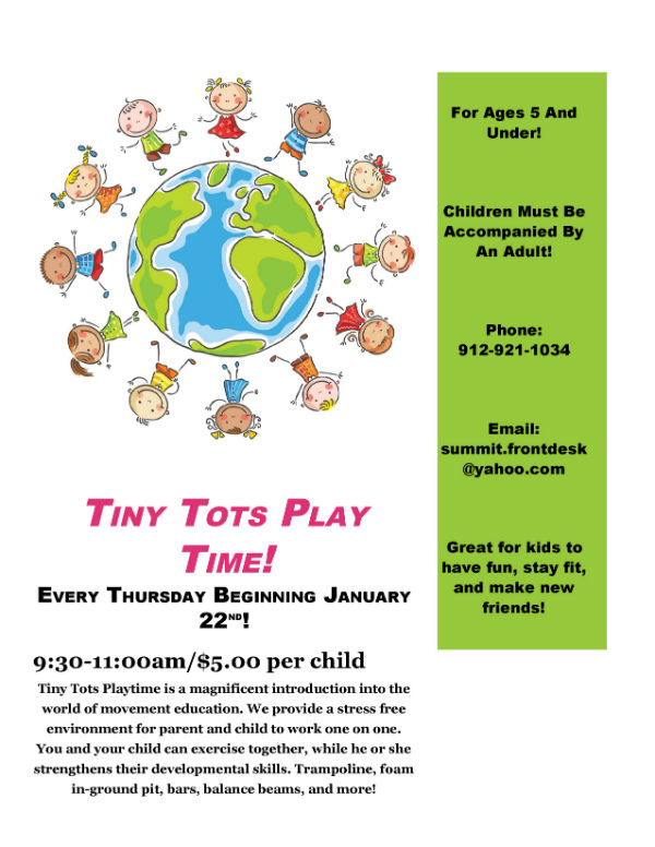 Tiny Tots Play Time Summit Gymnastics Savannah