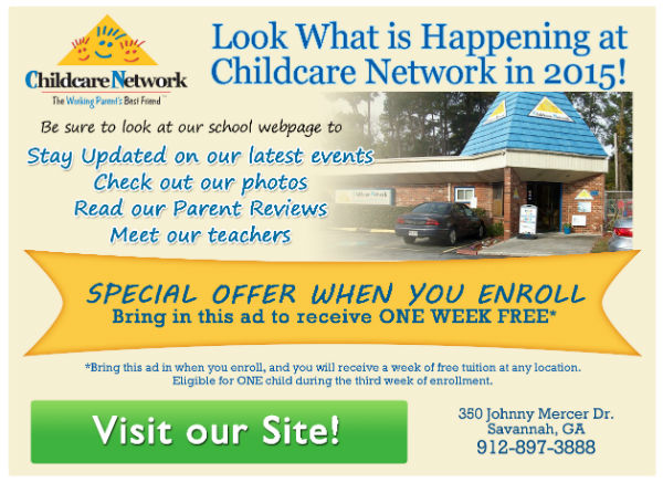 Free week of childcare at Childcare Network Savannah