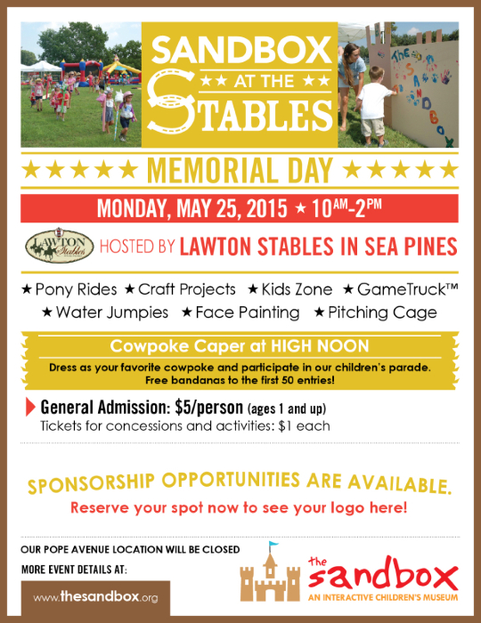 Sandbox at the Stables Hilton Head Lawton