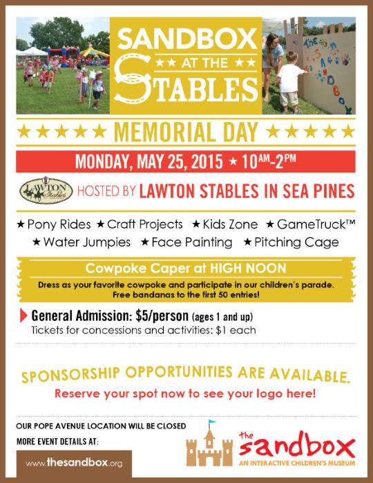 Sandbox at the Stables Hilton Head Lawton