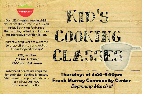 after-school kids cooking classes Savannah