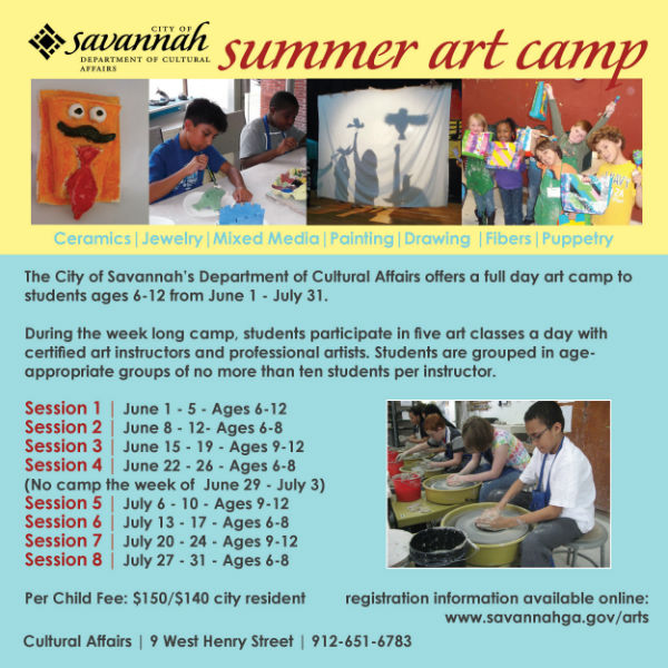 Summer Art Camp Savannah Department Cultural Affairs