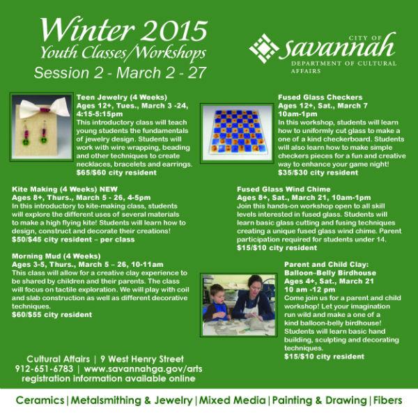 Savannah children's art classes, parent and me workshops 2015