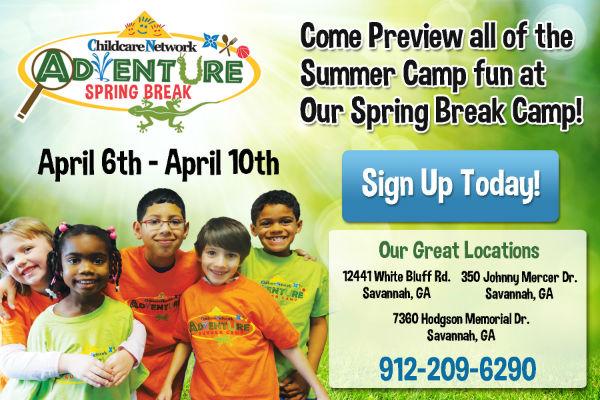 Spring break camps childcare Savannah Childcare Network