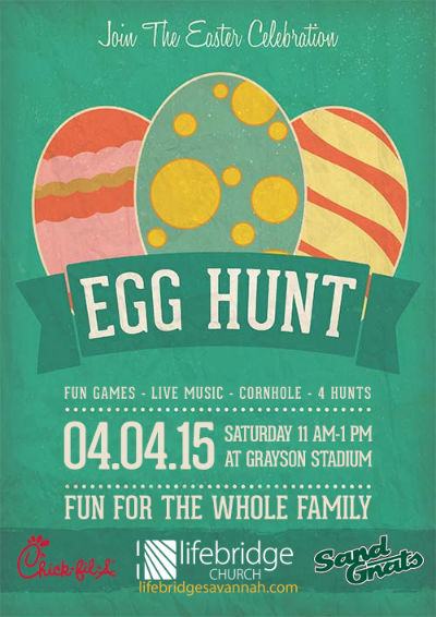 Easter egg Hunts 2015 Savannah Grayson Stadium