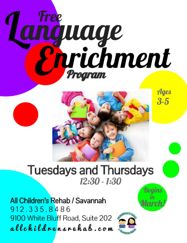 Free language enrichment program All Children's Rehab Savannah